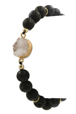 Druzy Beaded Bracelet-4 Colors