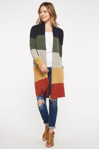 The Campout Cardigan in Plus
