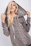The Brushed Leopard Cozy Hoodie