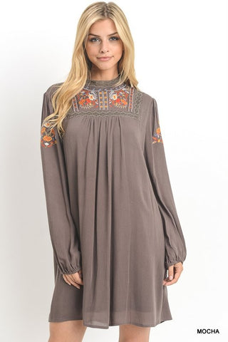 The Bronson Dress in Mocha