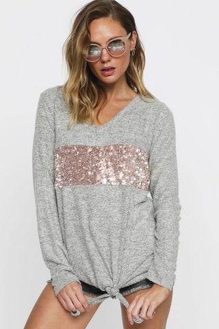 The Sequins and Softness Top
