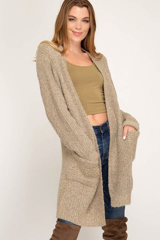 The Taupe Trina Cardigan