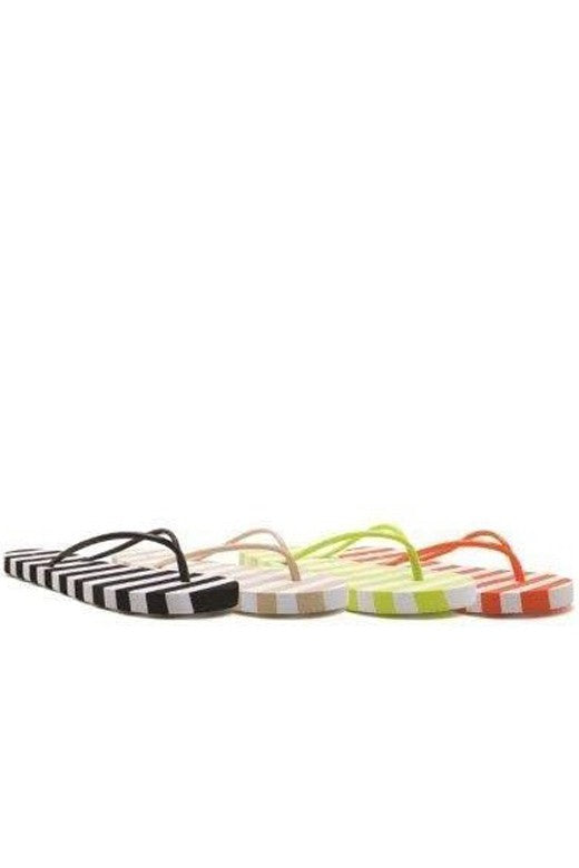 The AB Summer Stripe Sandal in Beige