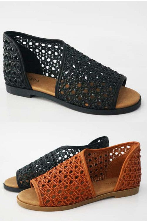 The Wicker Jenna Flats-2 Colors-R2SS3