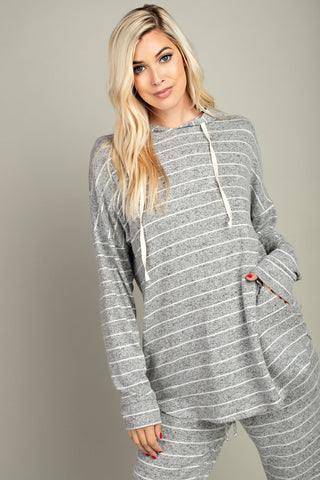 The Leena Lounge Hoodie in Grey