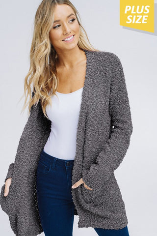 The Poppin' Plus Size Cardy in 4 Colors