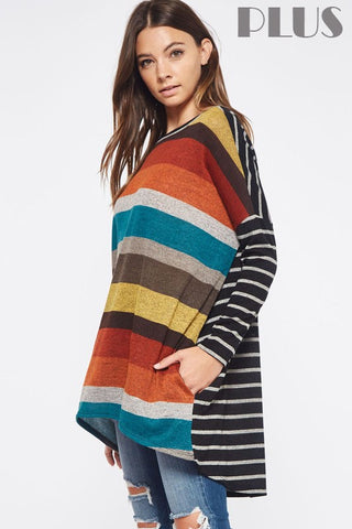 The Mix & Match Stripe Tunic-Plus