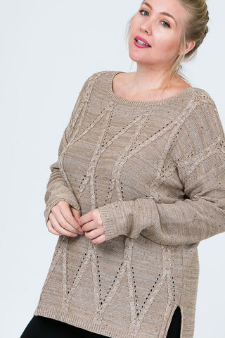The Plus Burton Sweater in Cocoa