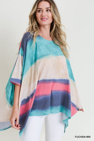 The Striped Poncho Top