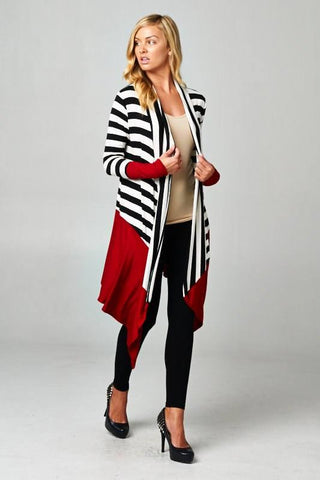 Loose & Long Stripe Cardi