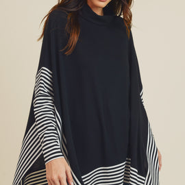 The Keaton Poncho Top in 2 Colors