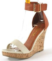 Camel & Cream Wedge