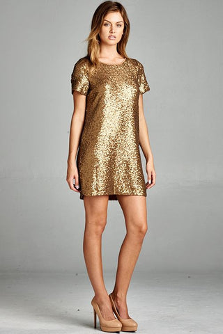 Rockefeller Dress In Gold