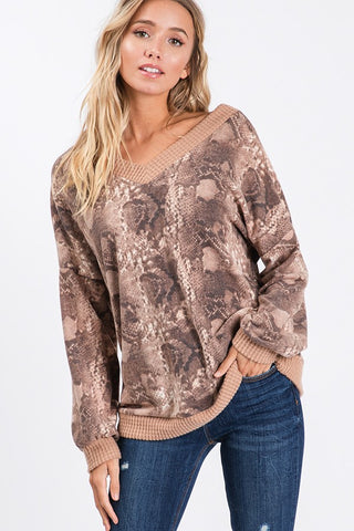 The Taupe Trish Top