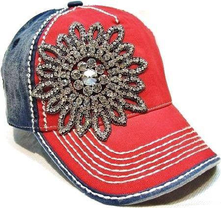 Embellished Hat in Navy