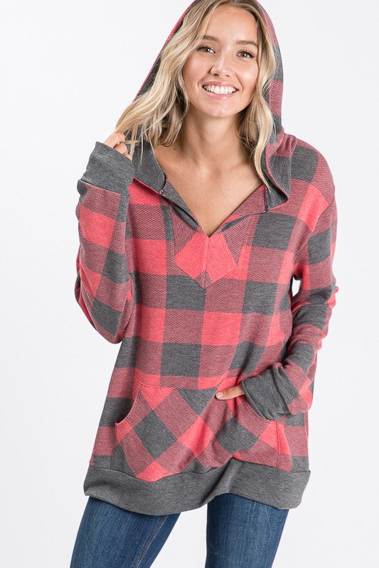 -The Plaid Pullover Top
