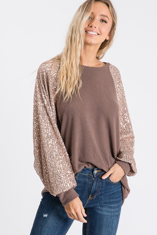 The Shimmer Sleeve Top in 3 Colors