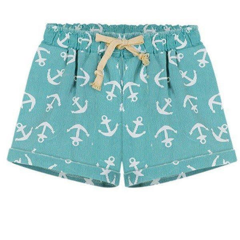 Nautical Stripe Shorts Mint