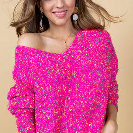 The Fuchsia Confetti Sweater