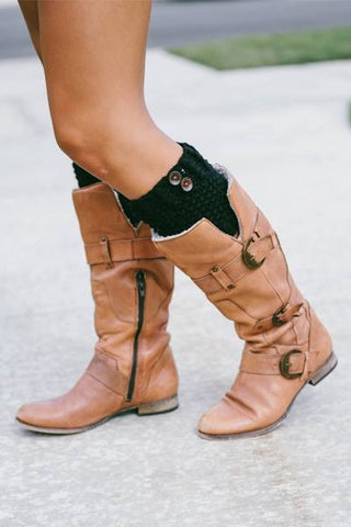 Button Boot Cuffs