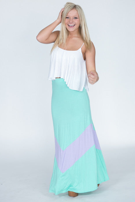 Single Chevron Maxi Skirt