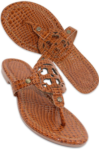 The Rory Croc Sandals in 2 Colors