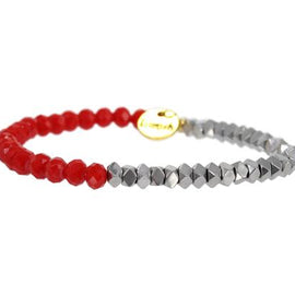 Erimish Stackable-Red Silver GD
