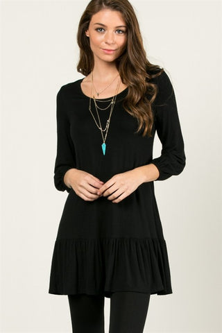 The Alayna Tunic in Black