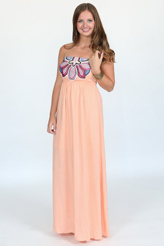 Embroidered Petal Maxi