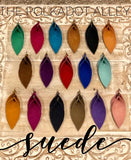 Solid Pinched Suede Earrings