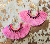Bold Fan Earrings-2 Colors