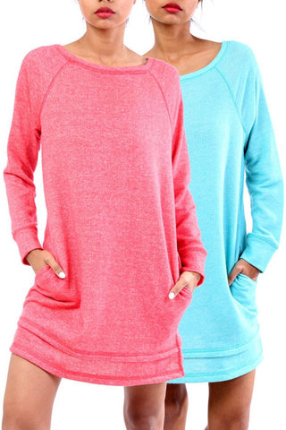 Sweatshirt Tunic-3 Colors