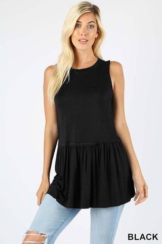 CYBER MONDAY-Peplum Soft Tops