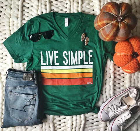 Live Simple Green Tee