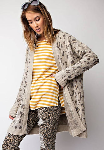 The Leopard Love Cardigan-LAYAWAY ONLY