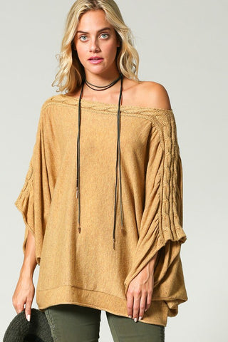 The Cable Slouch Tunic in 2 Colors
