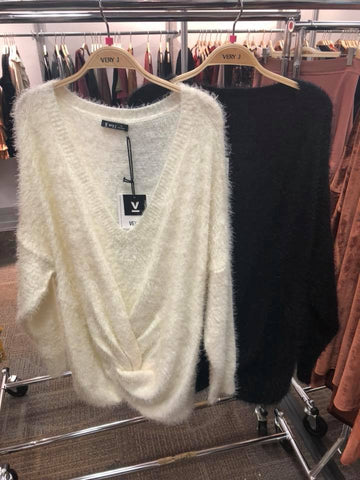 The Curvy Sky Sweater in 2 Colors