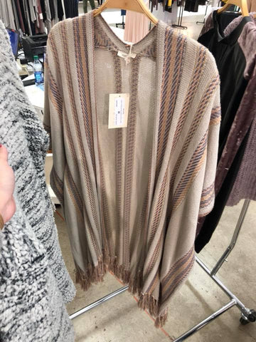 Fall Stripes Poncho