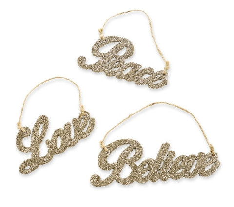 Glitter Word Ornament