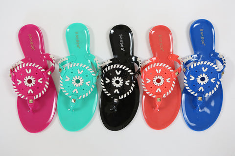 Jelly Medallion Sandals