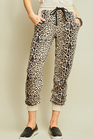 The Leopard Joggers
