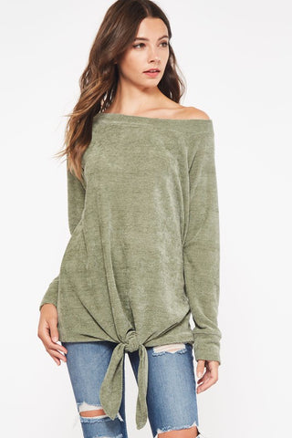 The Brushed Olive Top