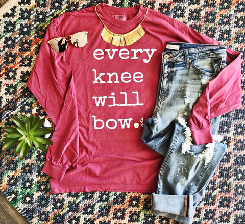Every Knee Will Bow Tee