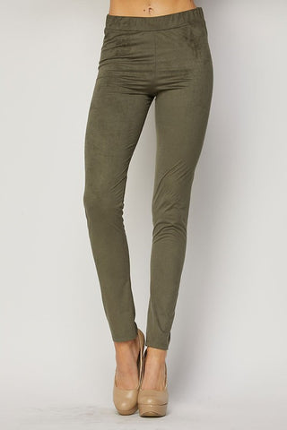 Basic Suede Leggings-4 Colors