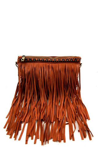 Fringe Crossbody/Clutch-2 Colors