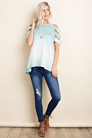 Mint Ombre Strap Top