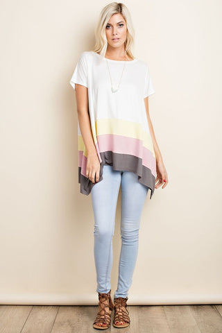 The Tandy Colorblock Top-Ivory