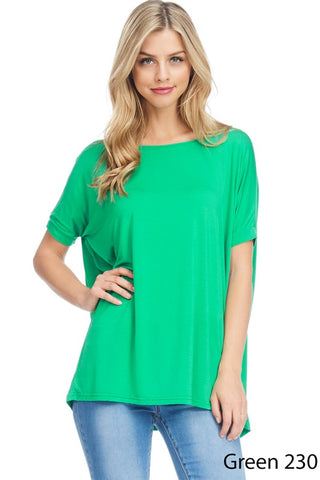 Short Sleeve Piko Top-2 Colors