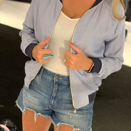 The Navy Striped Bomber