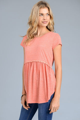 The Whisper Top in Coral